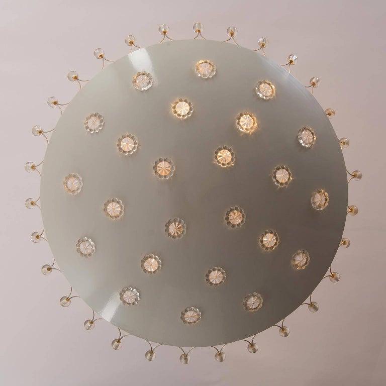 Emil Stejnar Bowl Flush Mount Light Chandelier for Rupert Nikoll, 1950s In Good Condition For Sale In Vienna, AT