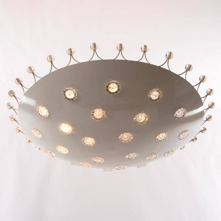 Mid-20th Century Emil Stejnar Bowl Flush Mount Light Chandelier for Rupert Nikoll, 1950s For Sale
