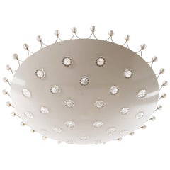 Emil Stejnar Bowl Flush Mount Light Chandelier for Rupert Nikoll, 1950s