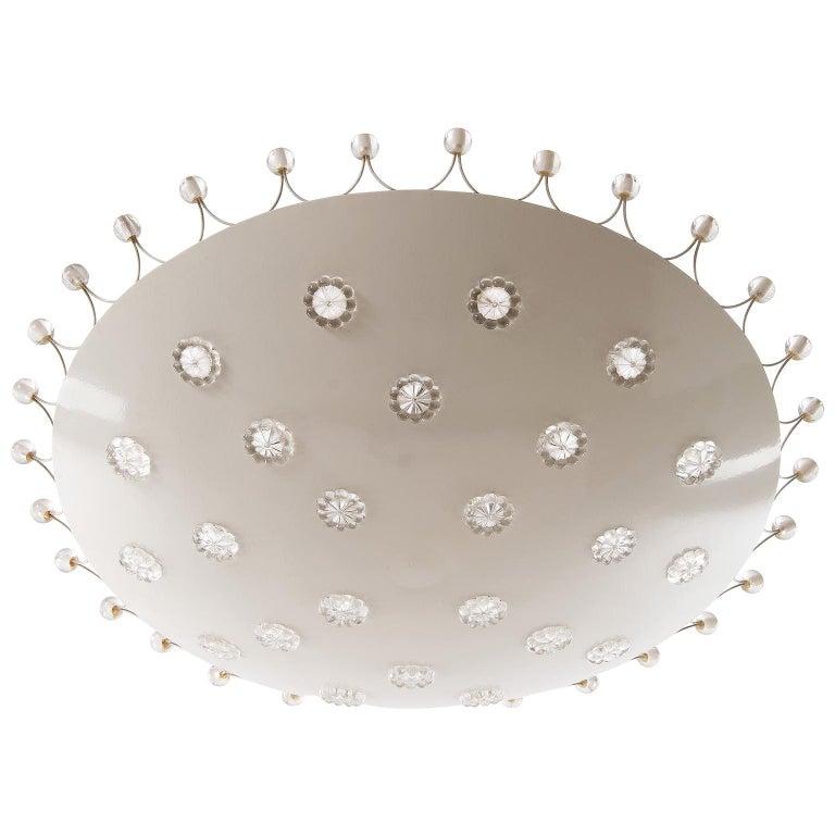 Emil Stejnar Bowl Flush Mount Light Chandelier for Rupert Nikoll, 1950s For Sale