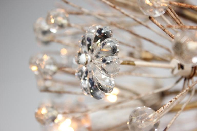 Emil Stejnar Dandelion Sputnik Crystal Chandelier In Good Condition For Sale In Los Angeles, CA