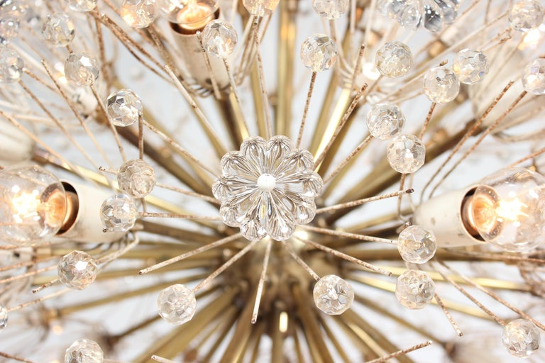 Mid-20th Century Emil Stejnar Dandelion Sputnik Crystal Chandelier For Sale