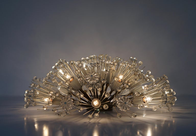 Emil Stejnar Snowball Flush Mount Chandelier In Good Condition For Sale In Antwerp, BE