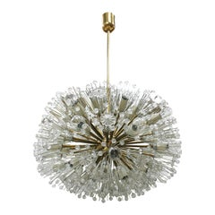 Midcentury Emil Stejnar Sputnik Murano Glass and Metal Viennese Suspension Lamp