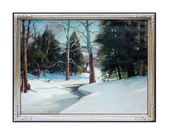 EMILE A. GRUPPE Original Gloucester Oil Painting On Canvas Signed Landscape