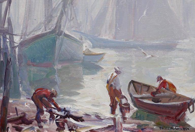 Post-Modern Emile Albert Gruppe 'Gloucester Fog' Painting For Sale