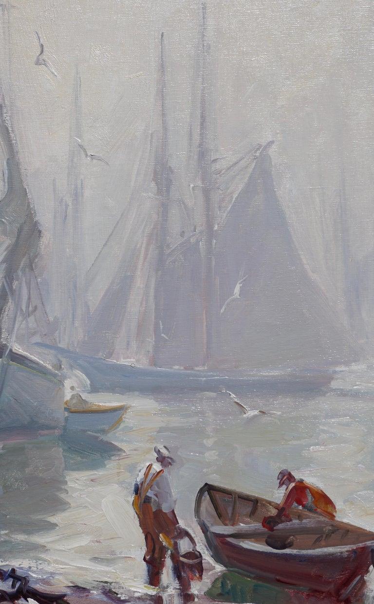 American Emile Albert Gruppe 'Gloucester Fog' Painting For Sale
