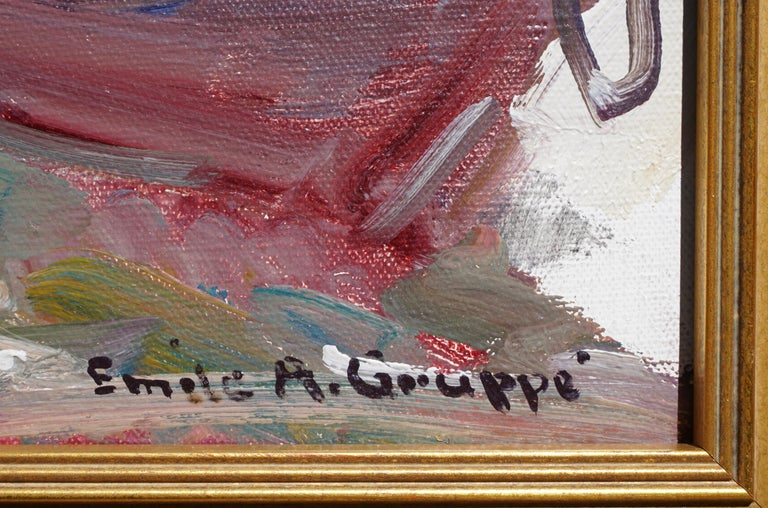 Hand-Painted Emile Albert Gruppe 'Gloucester Fog' Painting For Sale