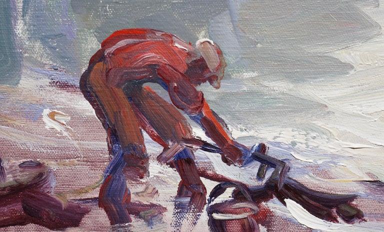 Late 20th Century Emile Albert Gruppe 'Gloucester Fog' Painting For Sale