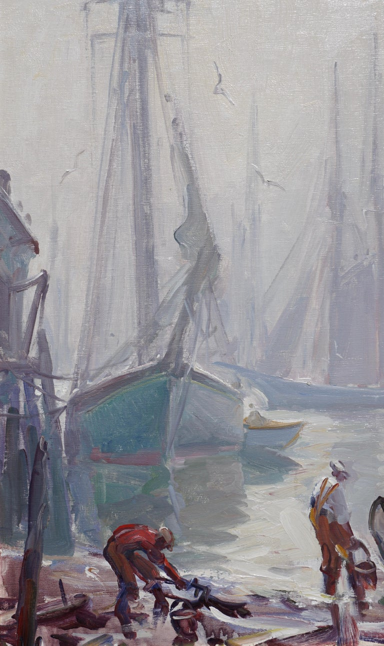 Emile Albert Gruppe 'Gloucester Fog' Painting For Sale 1