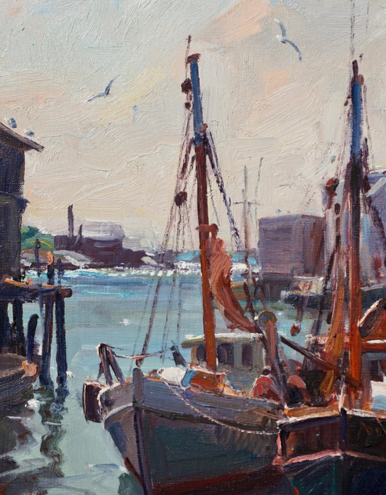 """American Emile Albert Gruppe """"In from the Catch"""" For Sale"""