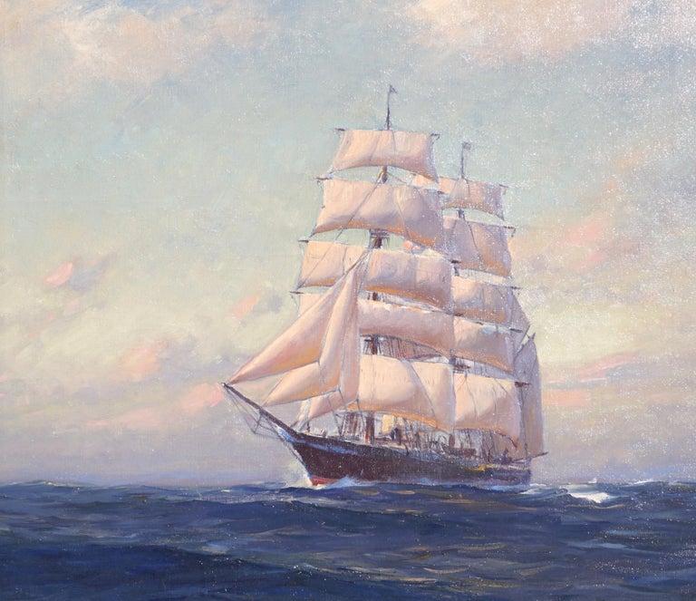 Mid-Century Modern Emile Albert Gruppe Large Marine Oil Painting For Sale