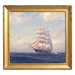 Emile Albert Gruppe Large Marine Oil Painting
