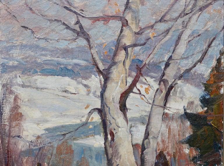 Mid-Century Modern Emile Albert Gruppe Winter Morning Vermont