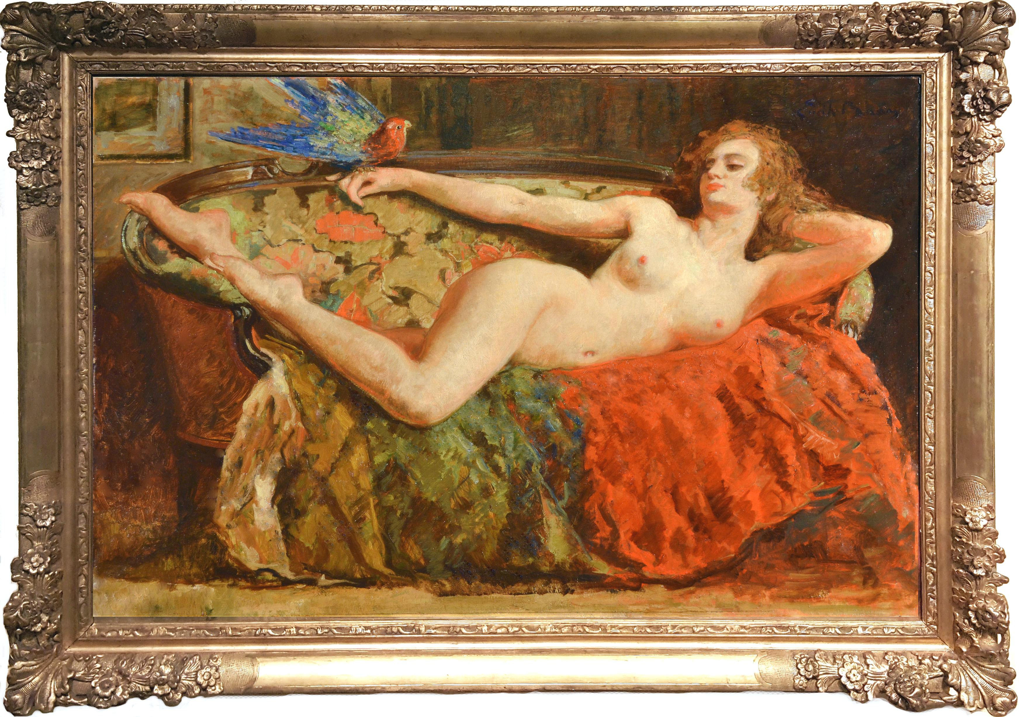 Art Paintings Of A Naked Woman With Violin