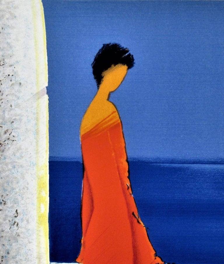 Femme en Rouge (Woman in Red) - Modern Print by Emile Bellet