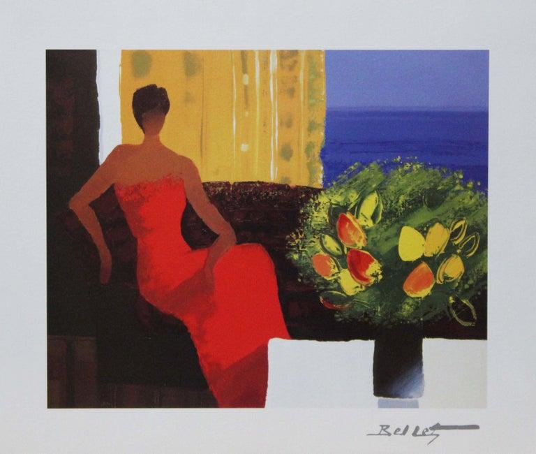 """Emile Bellet Portrait Print - """"Interieur"""" Plate-Signed Print."""