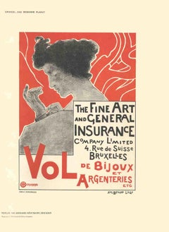 1897 Emile Berchmans 'Fine Art and General Insurance Company Limited' Gray,Red