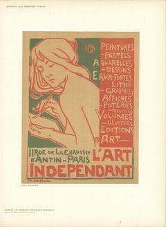 1897 After Emile Berchmans 'L'Art Independant' Vintage Multicolor,Brown Germany