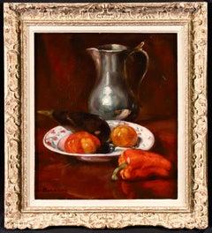 Vegetables & Jug - Post Impressionist Oil, Still Life by Emile Bernard