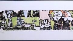 La Lessive (The Laundry) hand colored zincograph 1888 posthumous print c. 1950