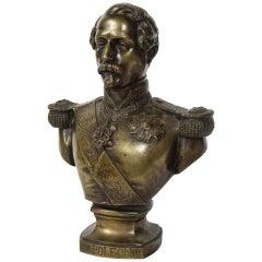 Exceptional Quality Bronze Bust of Emperor Napoleon III, circa 1870
