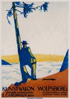 """Kunstsalon Wolfsberg"" Original Vintage Art Exhibition Poster"