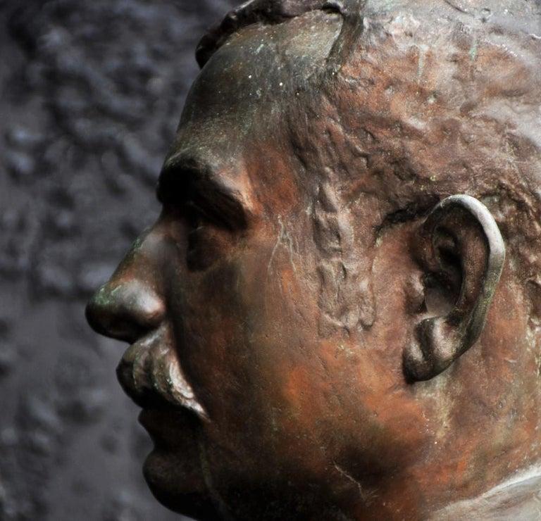 Emile Daviol Signed Bronze Bust For Sale 3