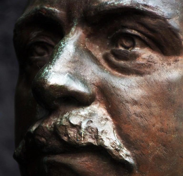Emile Daviol Signed Bronze Bust For Sale 5
