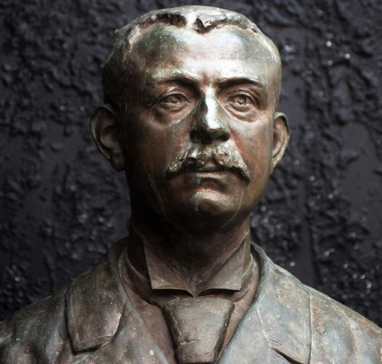 Bronze Bust of a Gentleman signed Emile Daviol, circa 1894.  This lot is a wonderful life-size bronze bust signed by Emile Daviol and dated 1894. The item is in overall wonderful condition without any breaks or structural damage. This statue has