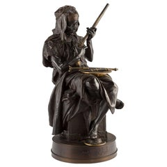 "Emile-Edmond Peynot ""Albaya' El Tunsi"" The Tunisian Merchant Bronze, 1883"