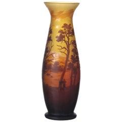 Emile Galle Vase Signed