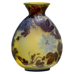 Émile Gallé an Impressive Gallé Cameo Glass Vase, circa 1900