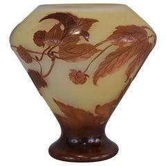 Emile Galle Cameo Glass Art Nouveau Vase