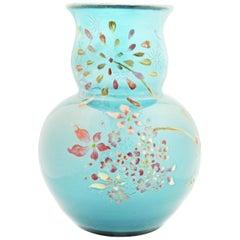 Emile Galle Cameo Glass Vase, Signed Gallé Modé Le Décor Déposés