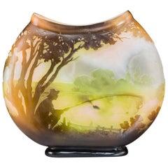 Emile Galle Fisherman Pillow Vase