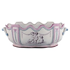 Emile Gallé for St. Clement, Nancy, Antique Monteith / Punch Bowl with Handles