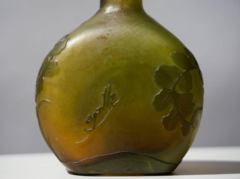 Emile Gallé French Art Nouveau Cameo Glass Vase For Sale 2