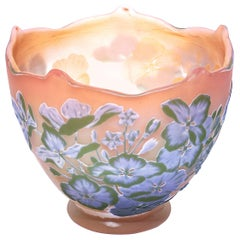 Emile Galle Internally Decorated Cameo Lilac Vase