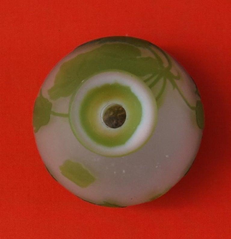 Art Nouveau French Cameo Glass 'Convolvulus Vase' by Emile Gallé, Nancy - 32 cm For Sale 7