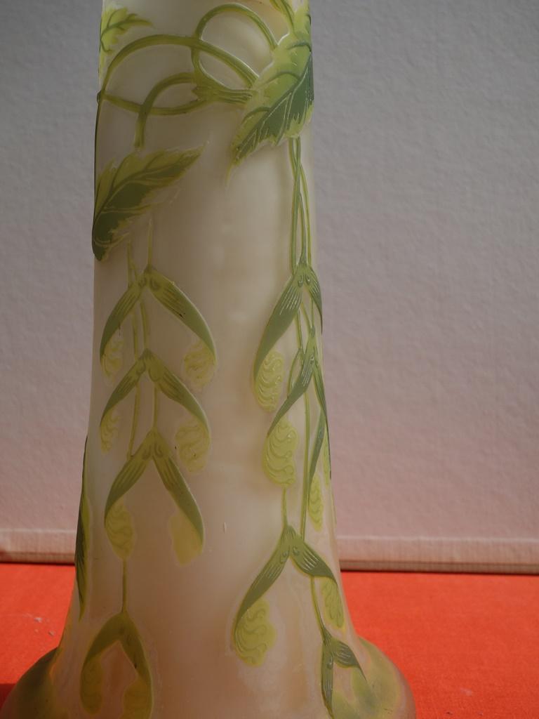 Art Nouveau French Cameo Glass 'Maple Vase' by Emile Gallé, Nancy - 45cm For Sale 3