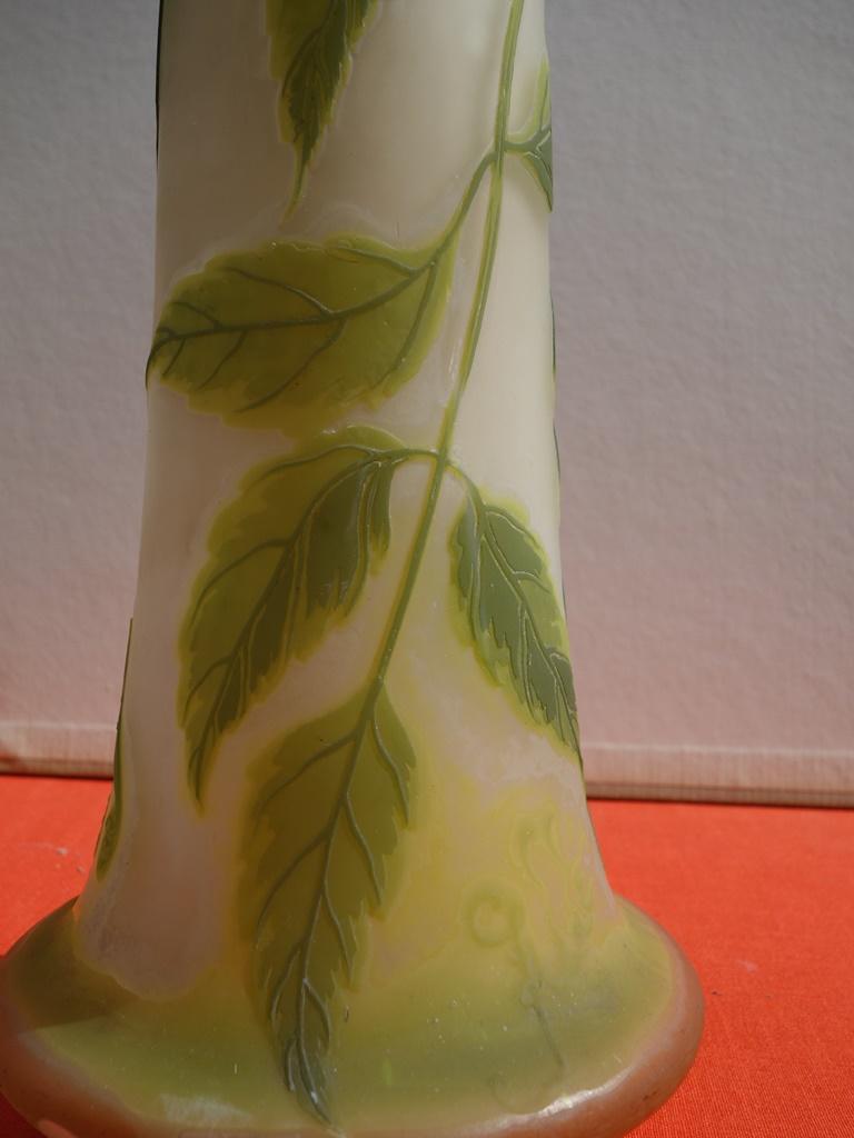 Art Nouveau French Cameo Glass 'Maple Vase' by Emile Gallé, Nancy - 45cm For Sale 5