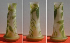 Art Nouveau French Cameo Glass 'Maple Vase' by Emile Gallé, Nancy - 45cm