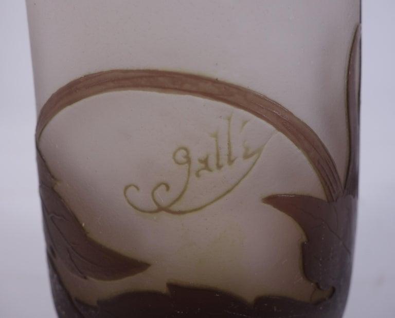 Art Nouveau French Cameo Glass 'Umbels Vase' by Emile Gallé, Nancy - 40 cm For Sale 9
