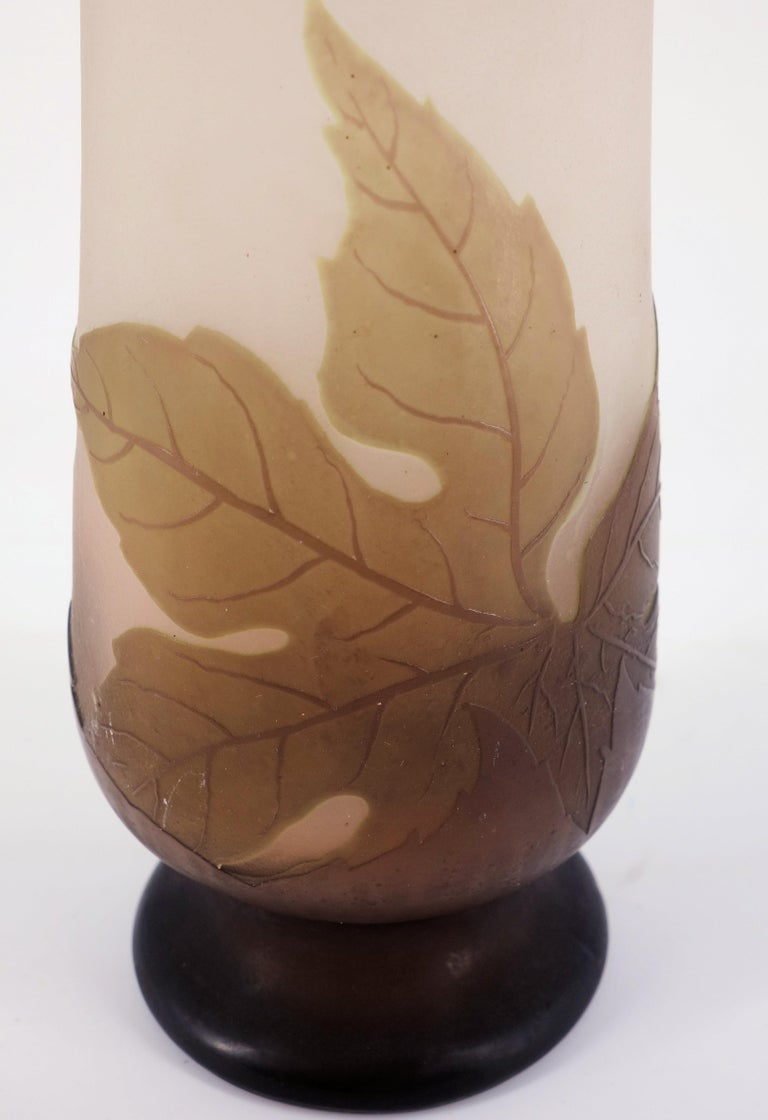 Art Nouveau French Cameo Glass 'Umbels Vase' by Emile Gallé, Nancy - 40 cm For Sale 7
