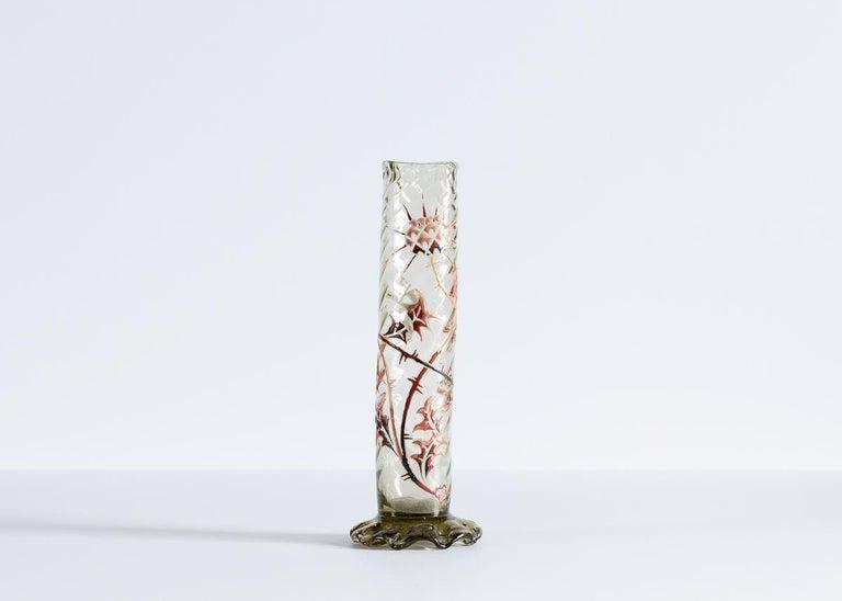 Art Nouveau Émile Gallé, Set of Three Vases, France, Early 20th Century For Sale