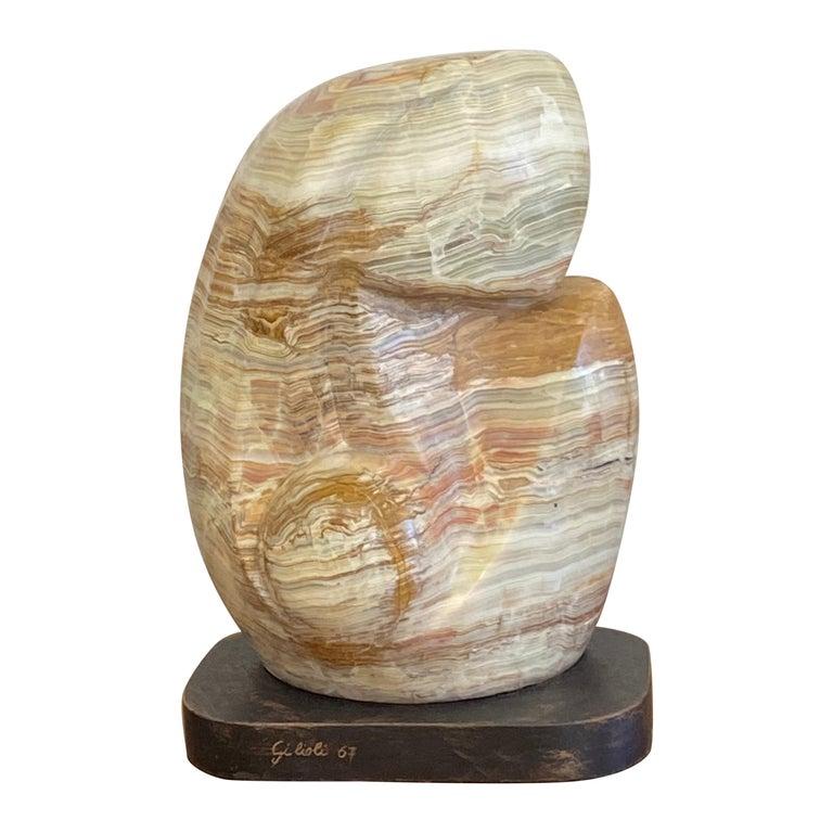 Emile Gilioli Agate Sculpture For Sale