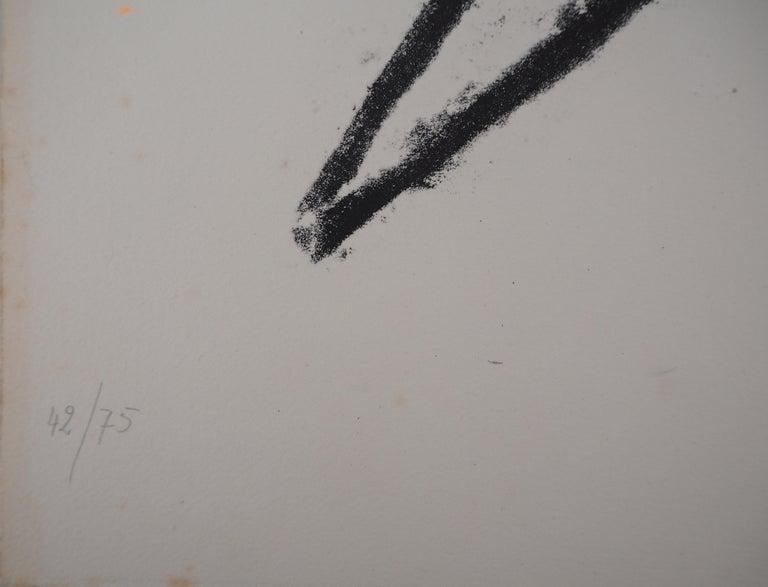 Broken Lines - Original Lithograph, Handsigned For Sale 1