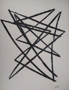 Broken Lines - Original Lithograph, Handsigned