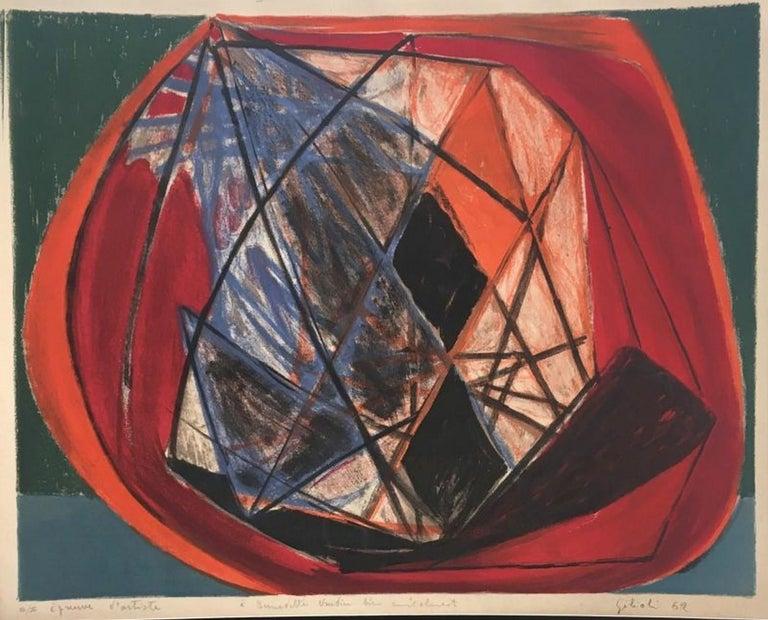Émile Gilioli Abstract Print - Composition